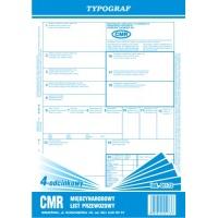 CMR 4-odcinkowy bloczek, A4, TYPOGRAF, 01173, Transportowe, Druki akcydensowe