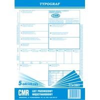CMR 5-odcinkowy bloczek, A4, TYPOGRAF, 01174, Transportowe, Druki akcydensowe
