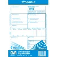 CMR 6-odcinkowy bloczek, A4, TYPOGRAF, 01196, Transportowe, Druki akcydensowe