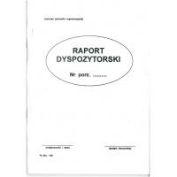 Raport dyspozytorski Sm 106, A4, TYPOGRAF, 02127, offsetowy, Transportowe, Druki akcydensowe
