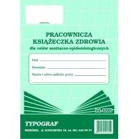 Książeczka zdrowia pracownika, A6, TYPOGRAF, 02065, offsetowy, Medyczne, Druki akcydensowe