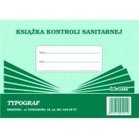 Książka kontroli sanitarnej, A5, TYPOGRAF, 02111, offsetowy, Medyczne, Druki akcydensowe