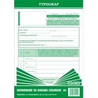 Skierowanie na badania lekarskie, A5, TYPOGRAF, 01152, Medyczne, Druki akcydensowe