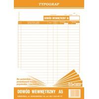Dowód wewnętrzny dla podatników prowadzących podatkową książkę przychodów i rozchodów, A5, TYPOGRAF, 02151, offsetowy, Budowlane, Druki akcydensowe