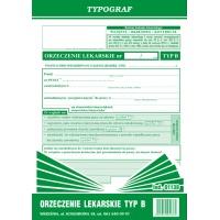 Orzeczenie lekarskie TYP B, A5, TYPOGRAF, 01138, Budowlane, Druki akcydensowe