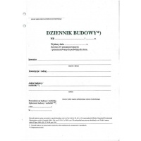 Dziennik budowy, A4, TYPOGRAF, 02128, offsetowy, Budowlane, Druki akcydensowe