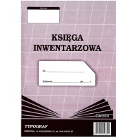 Księga inwentarzowa, A4, TYPOGRAF, 02034, offsetowy, Budowlane, Druki akcydensowe