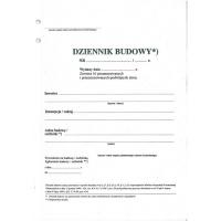 Dziennik budowy, A4, TYPOGRAF, 02259, Budowlane, Druki akcydensowe