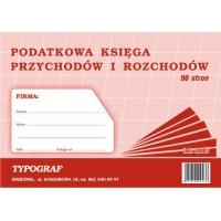 Podatkowa księga przychodów i rozchodów, A4, TYPOGRAF, 48003, offsetowy, 96 str., Ewidencje podatkowe, Druki akcydensowe