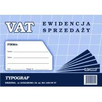 Ewidencja VAT sprzedaży, A5, TYPOGRAF, 48005, offsetowy, Ewidencje podatkowe, Druki akcydensowe