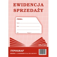 Ewidencja sprzedaży (pion), A5, TYPOGRAF, 48010, offsetowy, Ewidencje podatkowe, Druki akcydensowe