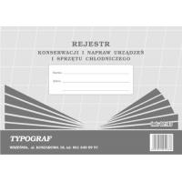 Rejestr konserwacji i napraw urządzeń i sprzętu chłodniczego, A4, TYPOGRAF, 02163, offsetowy, Rejestry do systemu HACCP, Druki akcydensowe
