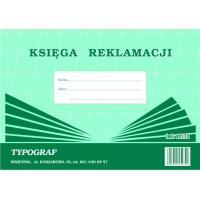 Księga reklamacji, A4, TYPOGRAF, 02172, offsetowy, Rejestry do systemu HACCP, Druki akcydensowe
