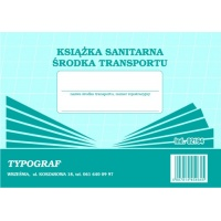 Książka sanitarna środka transportu, A5, TYPOGRAF, 02164, offsetowy, Rejestry do systemu HACCP, Druki akcydensowe