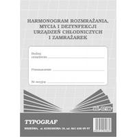 Harmonogram rozmrażania, mycia i dezynfekcji urządzeń chłodniczych i zamrażarek, A5, TYPOGRAF, 02166, offsetowy, Rejestry do systemu HACCP, Druki akcydensowe