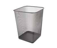 Waste bin Q-CONNECT Office Set, metal, 18 l, black