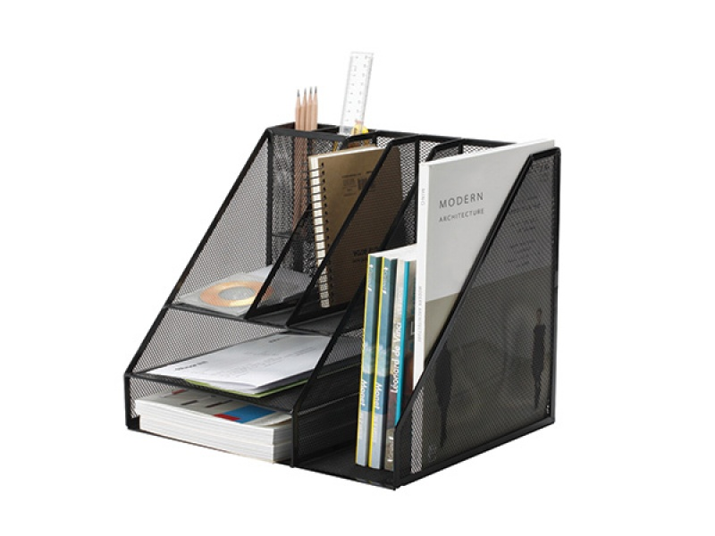 Desktop Organizer With A Pen Cup Q Connect Office Set Metal A4