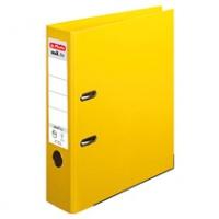 Segregator HERLITZ MaX. File protect plus, PP, A4/80MM, Żółty, Segregatory polipropylenowe, Archiwizacja dokumentów