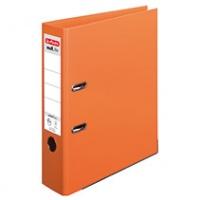 Segregator HERLITZ MaX. File protect plus, PP, A4/80MM, Pomarańczowy, Segregatory polipropylenowe, Archiwizacja dokumentów