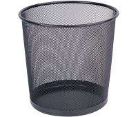 Waste bin, Q-CONNECT Office Set, metal, 12 l, black
