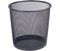 Kosz na śmieci Q-CONNECT Office Set, metalowy, 12l, czarny, Kosze metal, Wyposażenie biura
