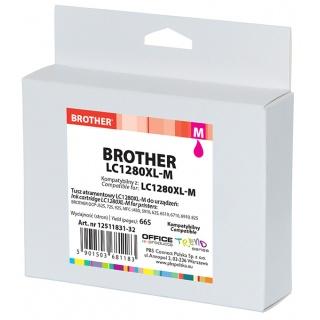 Tusz OP K Brother LC1280XL-M (do MFC-J5910DW), magenta, Tusze, Materiały eksploatacyjne