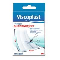 Plaster do cięcia VISCOPLAST Prestopor, supermiękki, na włóknie, 6cmx1m, Plastry, apteczki, Artykuły higieniczne i dozowniki