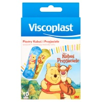 Plaster for children, VISCOPLAST, Pooh and friends, 10 pcs