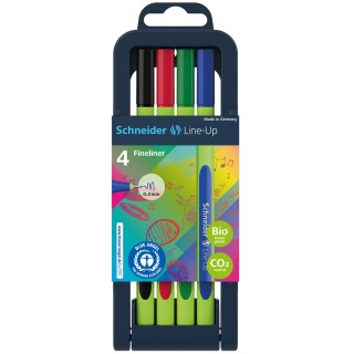 Zestaw cienkopisów SCHNEIDER Line-Up, 0,4mm, stojak, 4 szt., miks kolorów