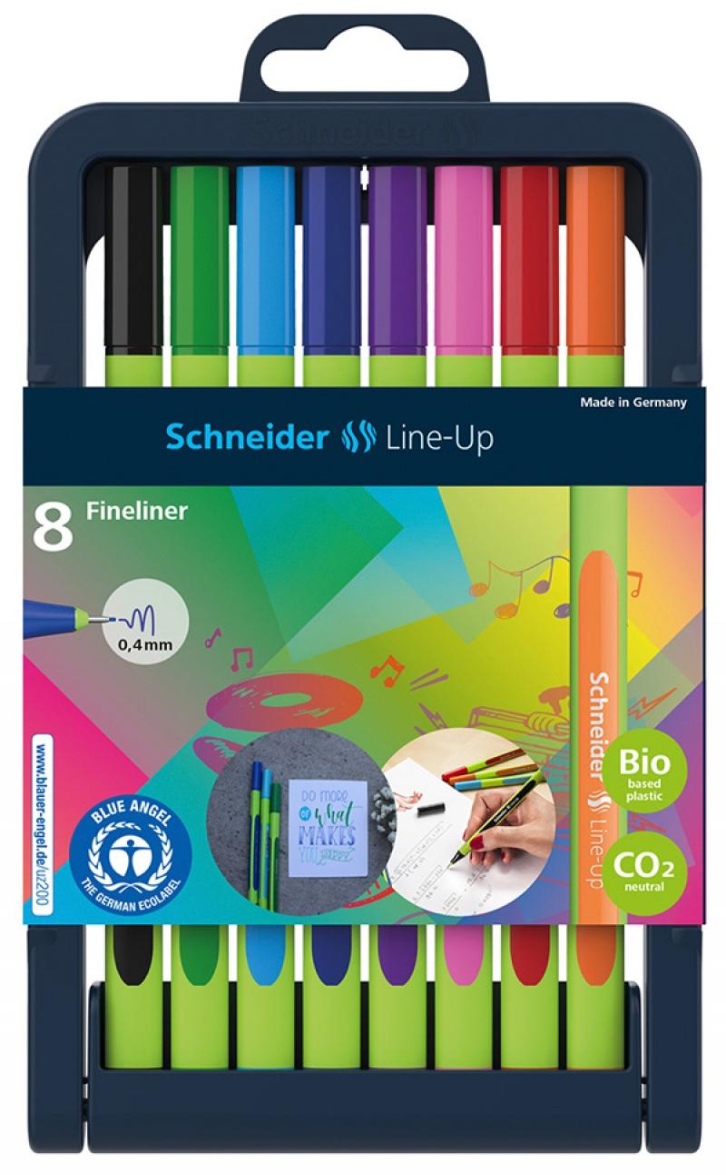 Zestaw cienkopisów SCHNEIDER Line-Up, 0,4mm, stojak, 8 szt., miks kolorów