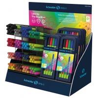 Display cienkopisów SCHNEIDER Line-Up, 0,4mm, 192 szt., miks kolorów, Cienkopisy, pióra kulkowe, Artykuły do pisania i korygowania