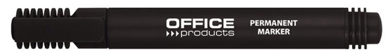 Marker permanentny OFFICE PRODUCTS, okrągły, 1-3mm (linia), czarny, Markery, Artykuły do pisania i korygowania