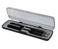 Zestaw aluminiowy długopis+ołówek, opakowanie ozdobne, czarny, Długopisy, Artykuły do pisania i korygowania
