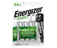 RECHARGEABLE ENERGIZER POWER PLUS AA /4 PCS
