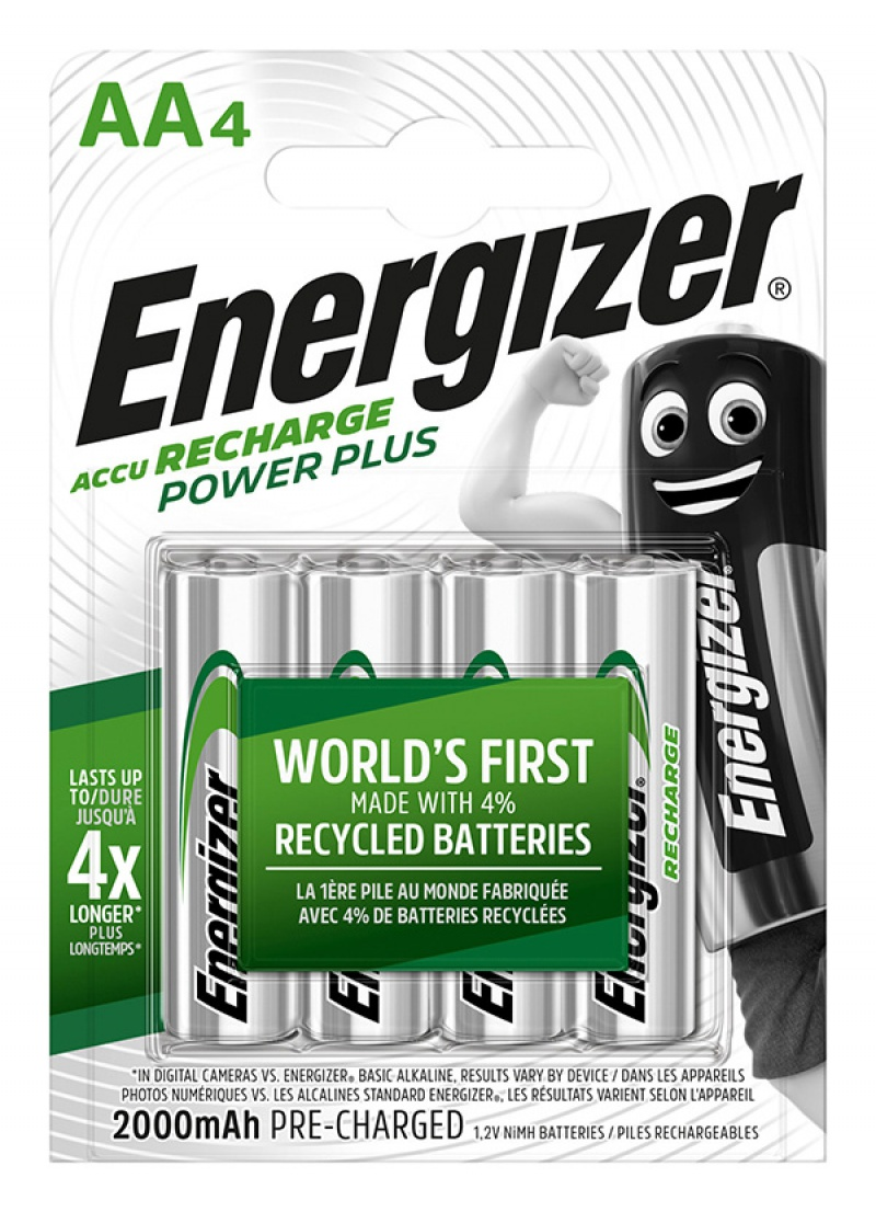 Akumulator ENERGIZER Power Plus, AA, HR6, 1,2V, 2000mAh, 4szt.