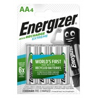 RECHARGEABLE BATTERY ENERGIZER EXTREME, AA, HR6, 1.2 V, 2300MAH, 4 PCS