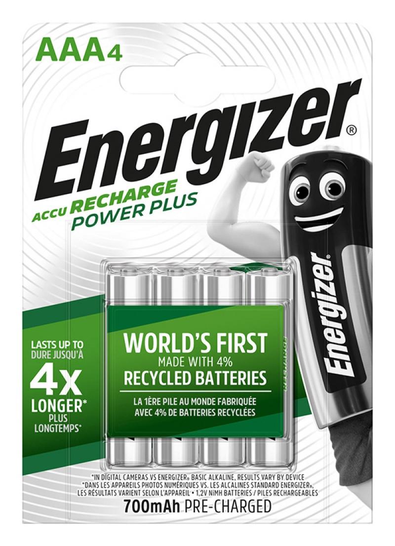 Akumulator ENERGIZER Power Plus, AAA, HR03, 1,2V, 700mAh, 4szt.
