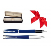 Zestaw Prezentowy Pióro + Długopis PARKER Urban Classic niebieski CT w pudełku, Zestawy prezentowe, Artykuły do pisania i korygowania