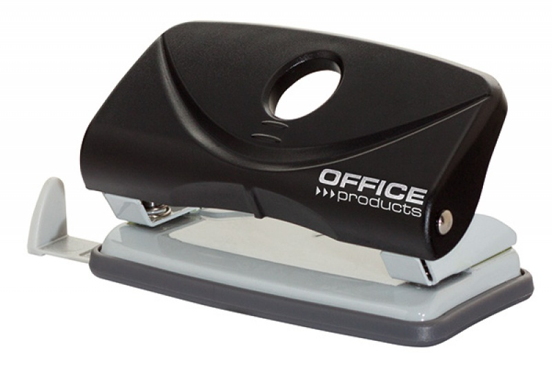 Dziurkacz OFFICE PRODUCTS, dziurkuje do 10 kartek, plastik, czarny, Dziurkacze, Galanteria biurowa