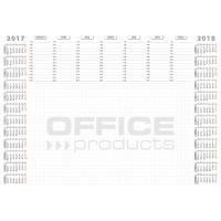 Podkładka na biurko OFFICE PRODUCTS, planer 2017/2018, biuwar, A2, 52 ark., Podkładki na biurko, Wyposażenie biura