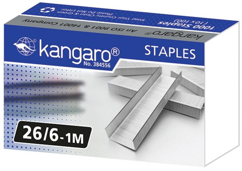 Zszywki KANGARO, No. 26/6-1M, 1000 szt., Zszywki, Drobne akcesoria biurowe