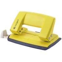 Dziurkacz KANGARO Aion-10G/S, dziurkuje do 10 kartek, metalowy, w pudełku PP, żółty, Dziurkacze, Drobne akcesoria biurowe