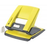Dziurkacz KANGARO Aion-20/S, dziurkuje do 20 kartek, metalowy, w pudełku PP, żółty, Dziurkacze, Drobne akcesoria biurowe