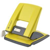 Dziurkacz KANGARO Aion-30, dziurkuje do 30 kartek, metalowy, żółty, Dziurkacze, Drobne akcesoria biurowe