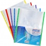 Punched pockets, for protecting documents, DONAU, PP, A4, crystal, 40mikr., coloured edge - assorted colours, 25 pcs