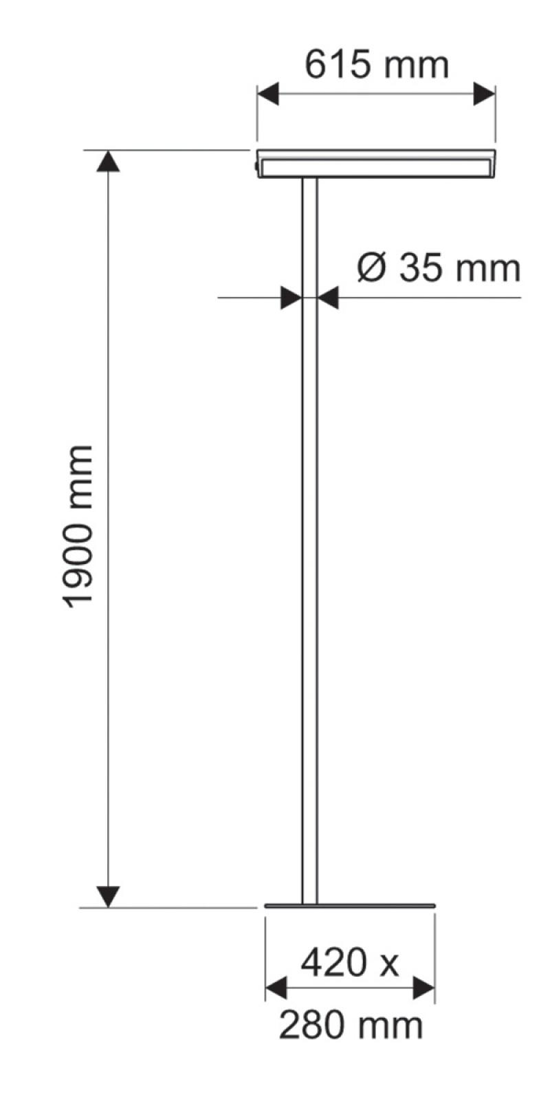 Energy Efficient Floor Lamp Maulmaioris 2x55w Silver