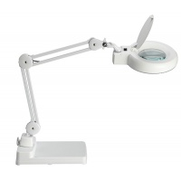 Lampka energooszczędna z lupą na biurko MAULviso, 22W, biała, Lampki, Urządzenia i maszyny biurowe