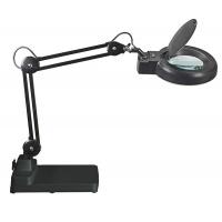 Lampka energooszczędna z lupą na biurko MAULviso, 22W, czarna, Lampki, Urządzenia i maszyny biurowe