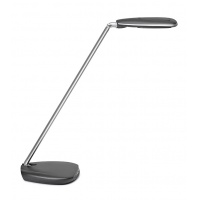 Desktop LED lamp, MAULpulse Colour Vario, 7W, with a dimmer, silver-black