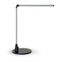 Lampka LED na biurko MAULstream, 8W, srebrna, Lampki, Urządzenia i maszyny biurowe